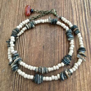 Men's Beach Boho Natural Shell Beaded Necklace